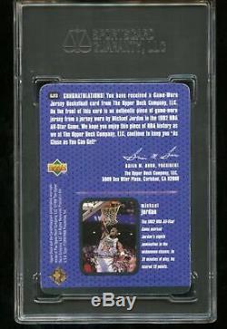 1997 Upper Deck #GJ13 Michael Jordan Game-Used Jersey SGC Authentic