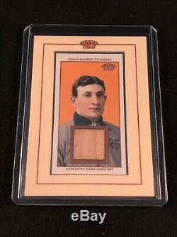 2002 Topps Honus Wagner 206 Authentic Game Used Bat Card Rare