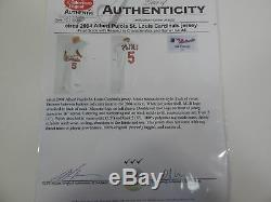 2004 St. Louis Cardinals Albert Pujols #5 Game Used White Jersey