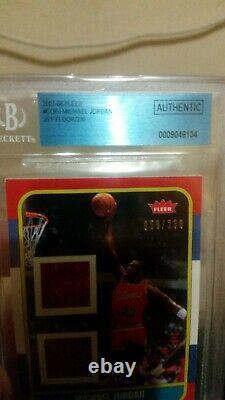 2007-08 Fleer Michael Jordan Rookie Reprint Game Used Floor/jersey Piece #rcf