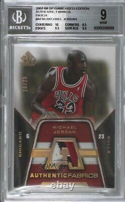 2007-08 SP Game Used Authentic Fabrics /25 Michael Jordan #AF-MJ BGS 9 Patch HOF