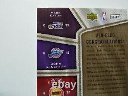2007-08 Stockton Olajuwon Drexler Eaton UD SP Game Used AUTHENTIC FABRICS #3/10