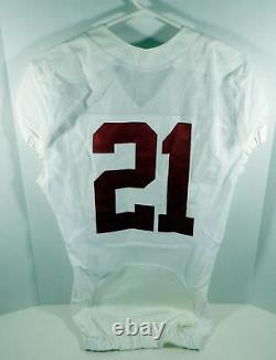2009-15 Alabama Crimson Tide #21 Game Used White Jersey BAMA00077