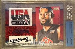 2015 The Bar LeBron James Autograph Game Used Jersey Patch Auto Logo Card 1/1