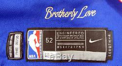 2017-18 Philadelphia 76ers Emeka Okafor #50 Game Used Blue Jersey DP01063