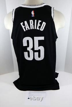 2018-19 Brooklyn Nets Kenneth Faried #35 Game Used Black Jersey vs MIN 112318