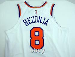 2018-19 New York Knicks Mario Hezonja #8 Game Used White Jersey Ramsey Band 8 pt