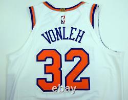 2018-19 New York Knicks Noah Vonleh #32 Game Used White Jersey vs BKN 22 pts