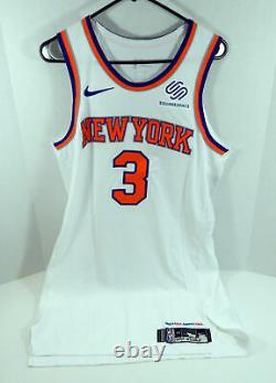 2018-19 New York Knicks Tim Hardaway Jr #3 Game Used White Jersey vs Nets 10 pts