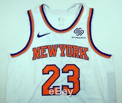 2018-19 New York Knicks Trey Burke #23 Game Used White Jersey vs PHI 112818 7 pt