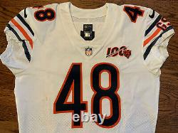 2019 Chicago Bears Nike Authentic Game Used Jersey With 100th Anniversary Patch