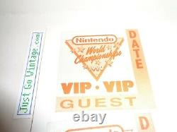3 RARE Authentic Nintendo World Championships 1990 VIP Patches from NWC Event