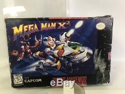 AUTHENTIC Mega Man X2 (Super Nintendo SNES) CIB Complete Box Manual Protector