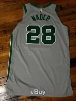 Abdel Nader Boston Celtics Authentic Gray Game Worn Jersey NBA Nike Size 52