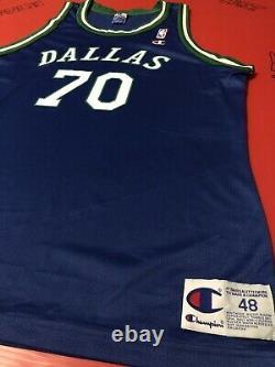 Authentic Dennis Rodman Dallas Mavericks Retro Jersey Sewn Procut Game Vtg Nba L