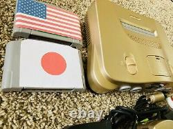 Authentic Gold Nintendo 64 N64 OEM Console Set + GAMES REGION FREE FAST Ship