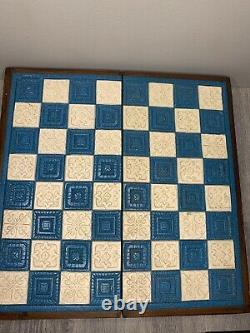 Authentic Mexican CHESS GAME SET Aztec Indians Spanish Conquistadors Carved