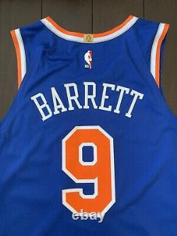 Authentic Nike RJ Barrett New York Knicks Player Game Worn Issued NBA Jersey