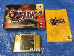 Authentic Nintendo 64 Zelda Majoras Mask Game in Box Collectors Edition N64