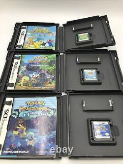 Authentic Nintendo DS/3DS Pokemon Complete Set Of 31 Games CIB Pokémon platinum