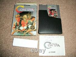 Authentic Nintendo NES Contra CIB Complete Game Manual Box Tested Works