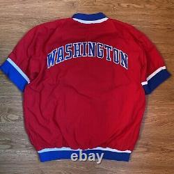 Authentic & Rare 91 Game Worn Washington Bullets Warm Up Jacket Size 44
