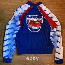 Authentic & Rare 92 Game Worn New Jersey Nets Warm Up Jacket Size 42
