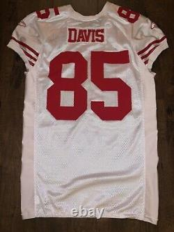 Authentic Vernon Davis Sf 49ers Team Issued Game Worn Used Jersey