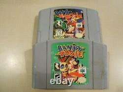 Banjo Tooie & Banjo Kazooie Nintendo 64 N64 GAME LOT Authentic & Tested RAREWARE