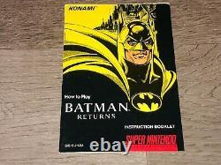 Batman Returns Super Nintendo Snes Complete CIB Authentic Good Condition