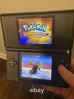 Black/Blue Nintendo DS Lite CIB with Authentic Pokemon Heart Gold, Tested (Read)