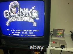 Bonk's Adventure Nintendo Nes Cleaned & Tested Authentic