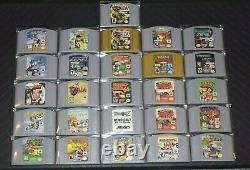 COMPLETE set of N64 NOT FOR RESALE front label games Authentic Cartridges CLEAN