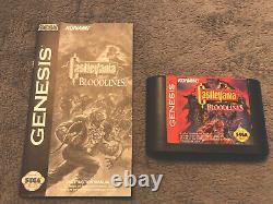 Castlevania Bloodlines (Sega Genesis, 1994) Game & Manual, Authentic, Tested