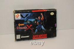Castlevania Dracula X SNES Box with Inserts Authentic Rare NO GAME