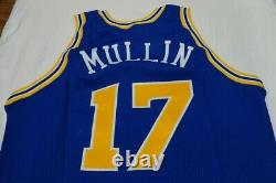 Chris Mullin warriors game jersey gold logo 92-93 champion issued authentic