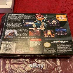 Chrono Trigger SNES CIB 100% Complete In Box Beautiful Condition RARE AUTHENTIC