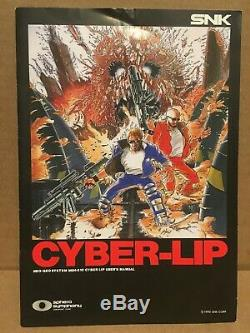 Complete SNK Neo Geo AES Cyber-Lip Authentic CIB (US Seller)