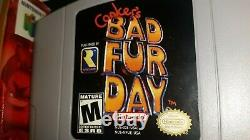 Conker's Bad Fur Day N64 with box and inserts, authentic