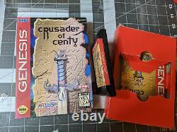 Crusader of Centy CIB Complete 100% Authentic Sega Genesis