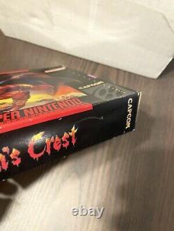 Demons Crest Super Nintendo Entertainment System SNES CIB Rare Box Authentic