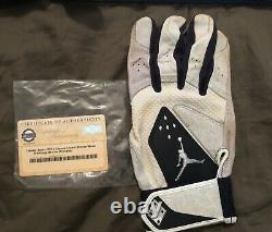 Derek Jeter Game Used Jordan 2012 Batting Glove, Yankees Steiner Authenticated
