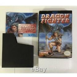 Dragon Fighter Nintendo NES Authentic Box And Manual Only No Game Rare
