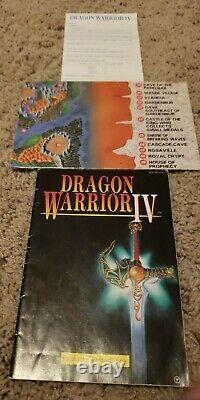 Dragon Warrior 4 (IV) Enix Nintendo NES Authentic Complete 4, No Reserve