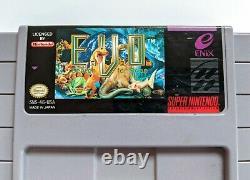 EVO Search For Eden Rare Snes Super Nintendo Game Authentic Cart & Board