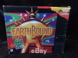 EarthBound Super Nintendo SNES Rare Video Game 1995 Authentic + Mother 2 Famicom