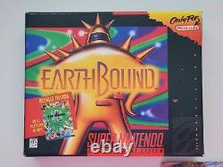 Earthbound Complete Big Box Authentic Super Nintendo SNES Earth Bound Tested