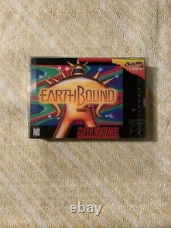 Earthbound SNES Super Nintendo Authentic Cart & Repro Box Still Saves