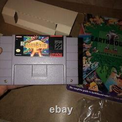 Earthbound Snes Cib Complete Authentic Rare! Super Nintendo