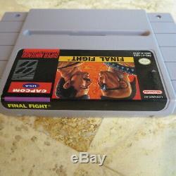 FINAL FIGHT TRILOGY 1 2 3 II III Super Nintendo SNES USA Authentic Capcom RARE